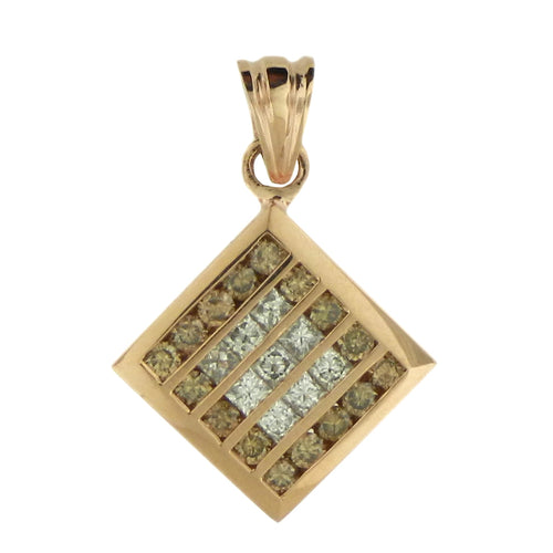 Squared Brown Diamond Pendant