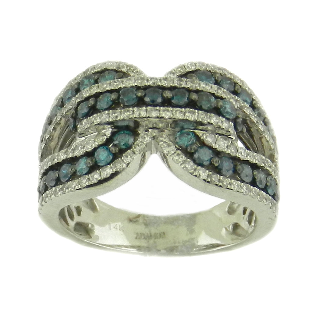 Knotted Blue Diamond Ring