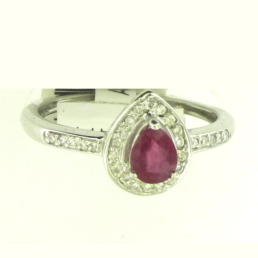 Tear Drop Ruby Ring