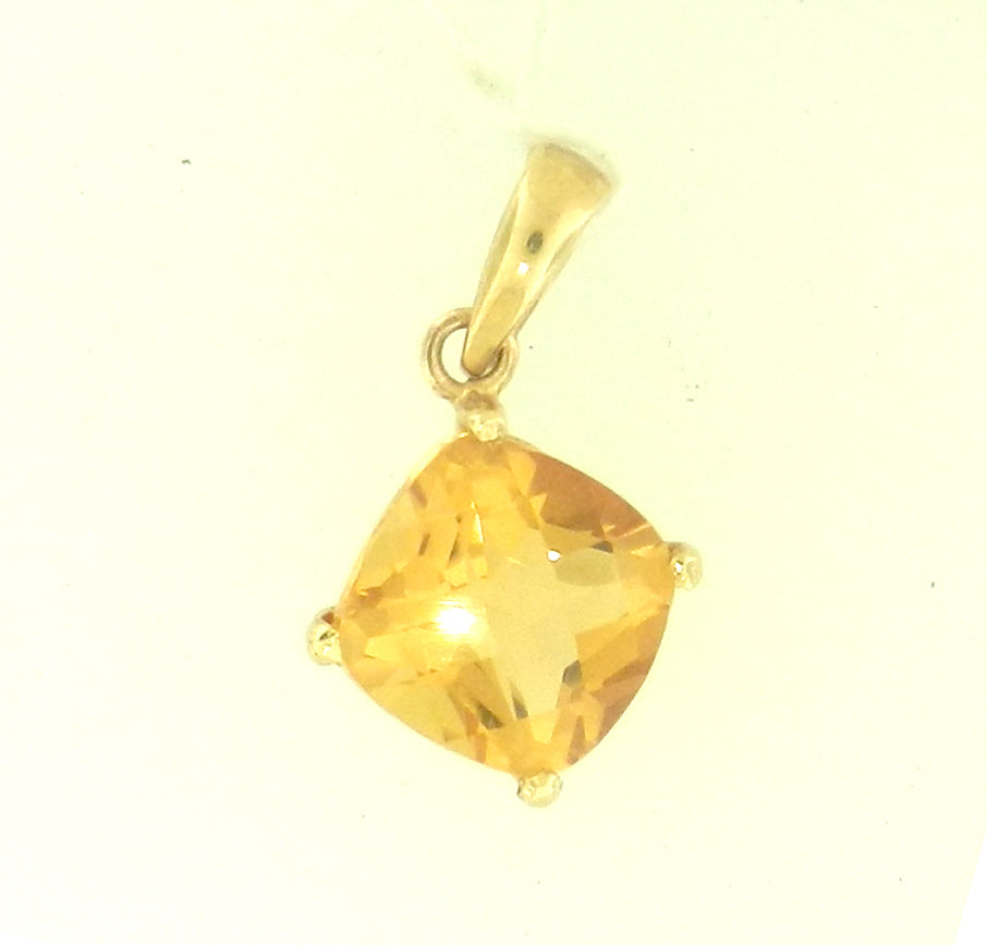Cushion Citrine Pendant