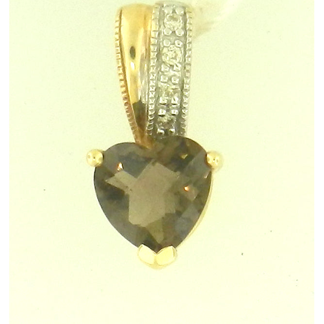 Heart Shape Smokey Topaz Pendant