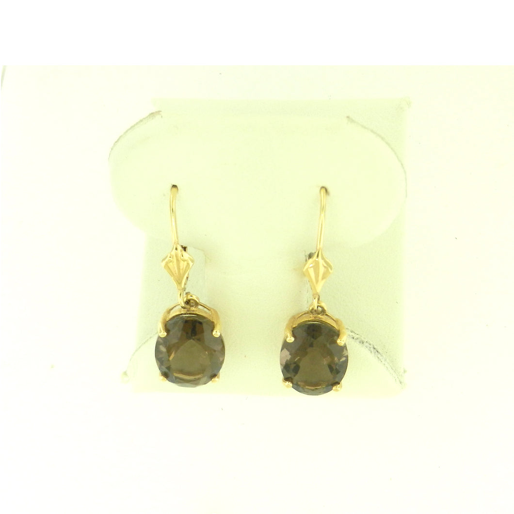 Smokey Topaz Earrings
