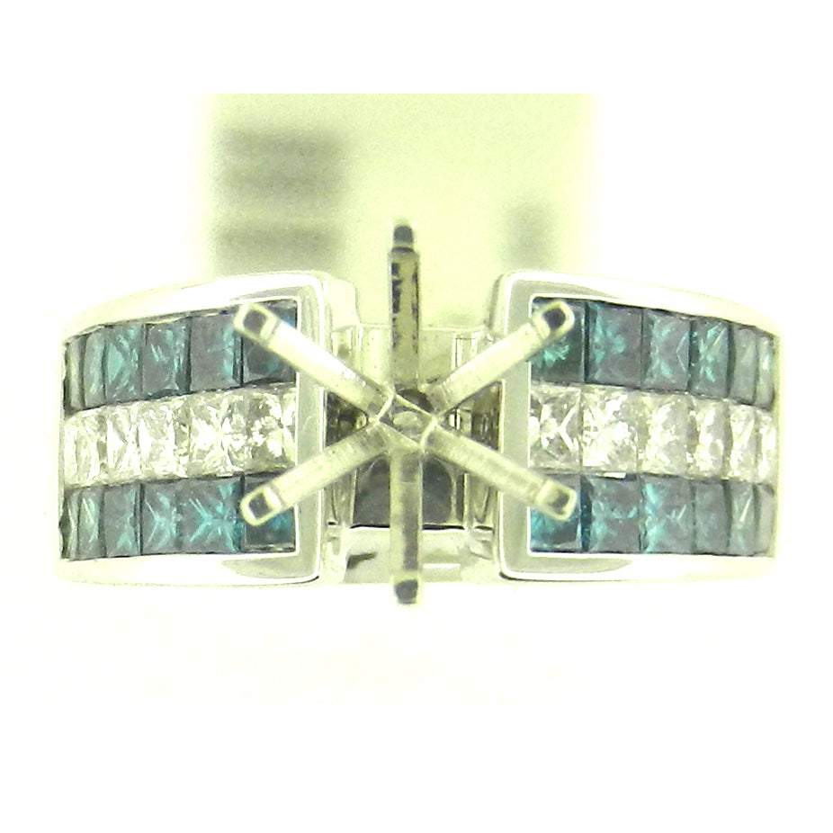 Blue Diamond Semi-Mount Ring