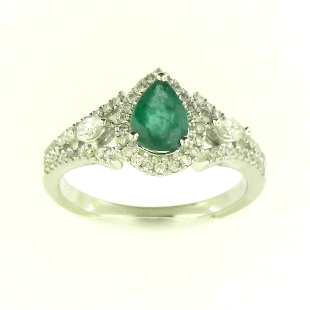Pear Shape Emerald Ring