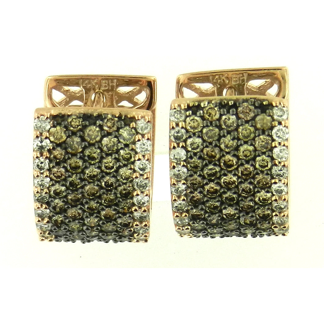 Brown Diamond Pave Earrings
