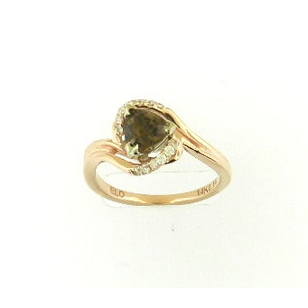Trillion Cut Smokey Topaz Ring