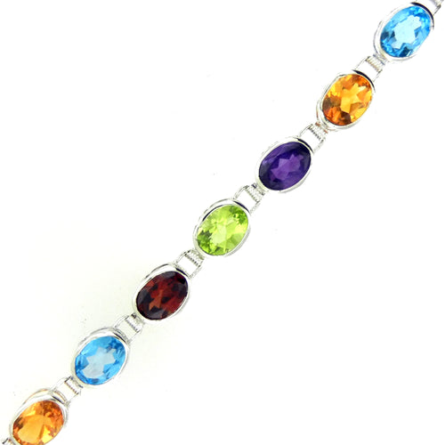Multi-Color Topaz Bracelet