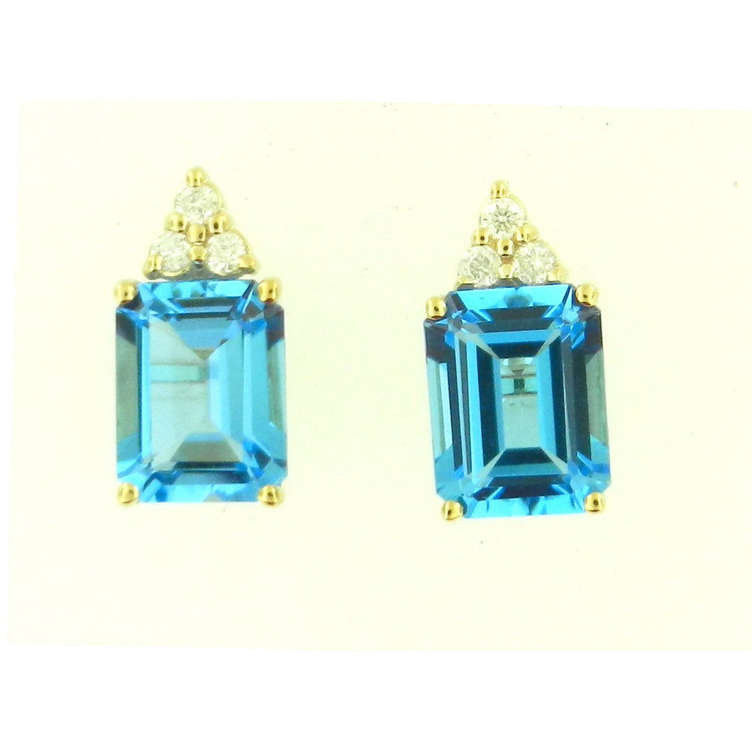 Emerald Blue Topaz Earrings