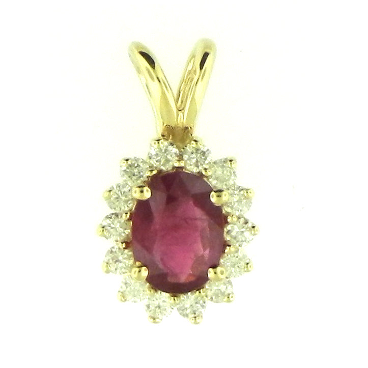 Oval Cut Ruby Pendant