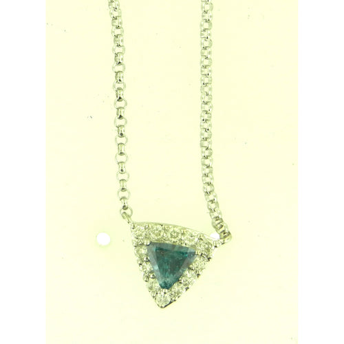 Trilliant Blue Diamond Necklace