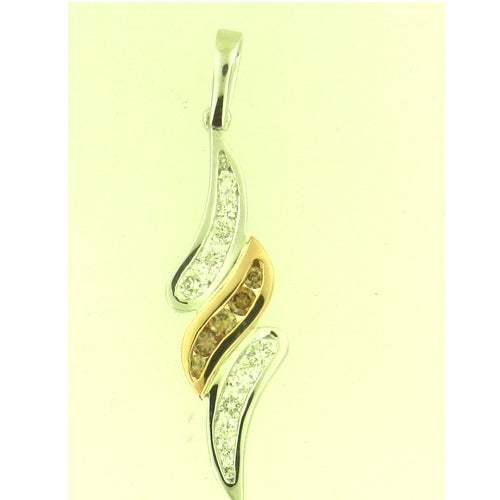 Brown Diamond Swirl Pendant
