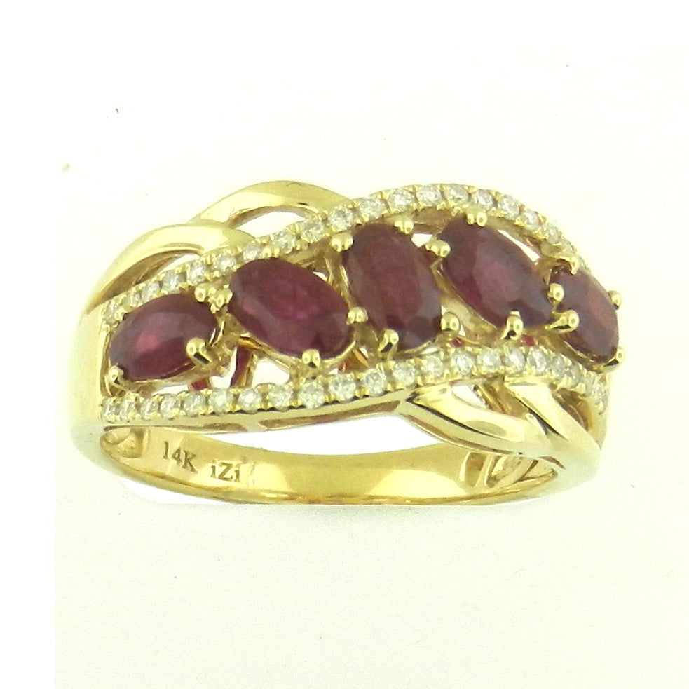 5 Stone Ruby Ring