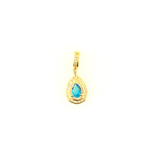 Tear Drop Blue Topaz Pendant