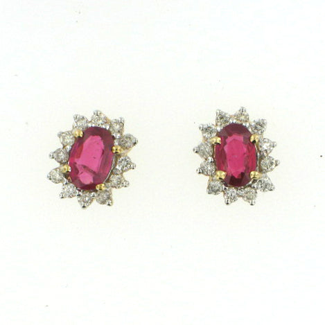 Oval Cut Ruby Studs