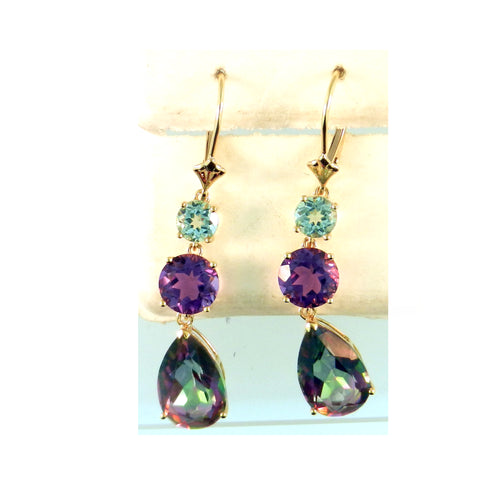 Multi-Color Topaz Earrings
