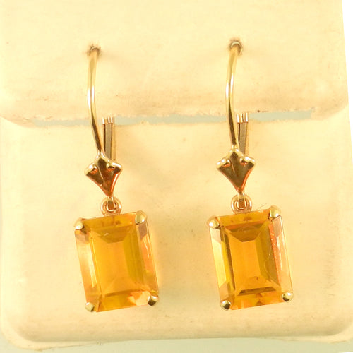 Emerald Citrine Earrings
