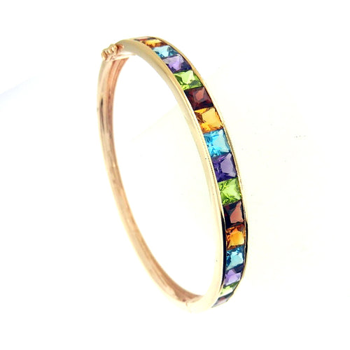 Multi-Color Topaz Bangle