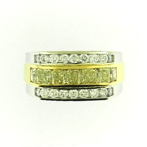 Men's Fancy Yellow Diamond Band