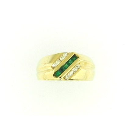 Mens Emerald Band