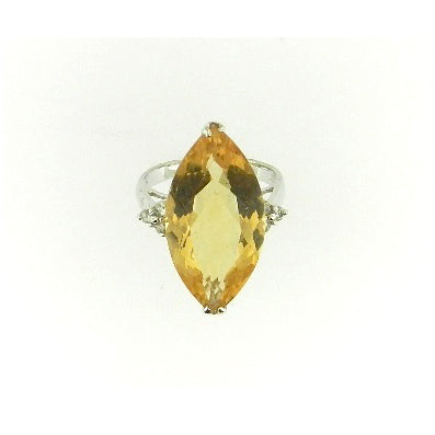 Marquis Citrine Ring