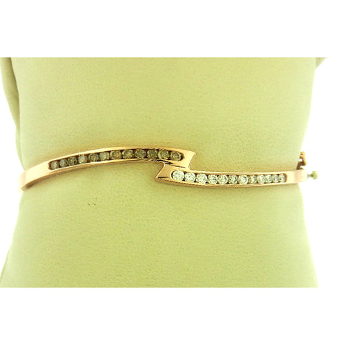 The Wave Brown Diamond Bangle