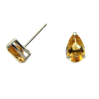 Tear Drop Citrine Earrings