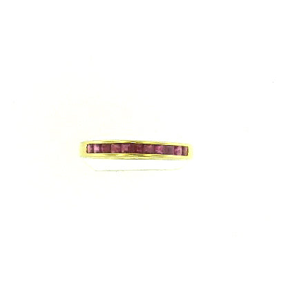 Princess Cut Ruby Band
