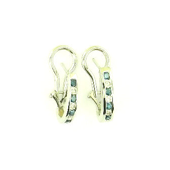 Clip Blue Diamond Earrings