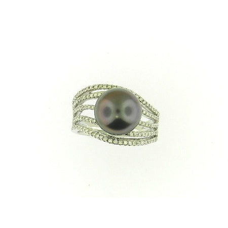 Wavy Pearl Ring