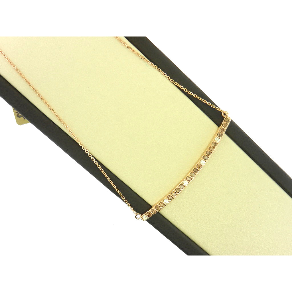 The Bar Brown Diamond Necklace