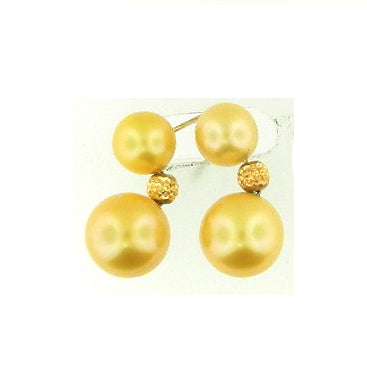 Champagne Colored Pearl Earrings