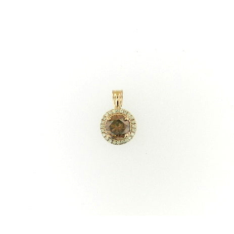 Halo Brown Diamond Pendant