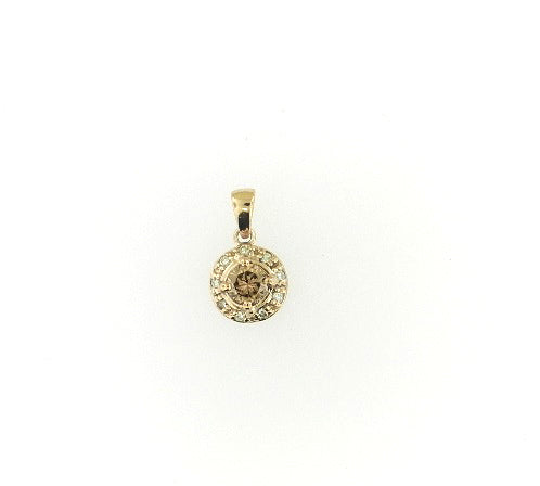 Solitaire Brown Diamond Pendant