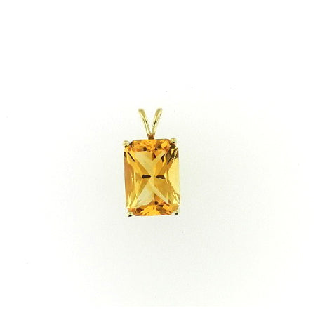 Radiant Cut Citrine Pendant