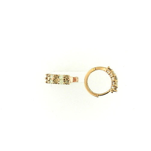 Mini Brown Diamond Hoop Earrings