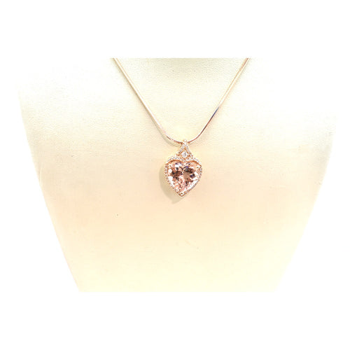 MORGANITE AND DIAMOND NECKLACE 30391