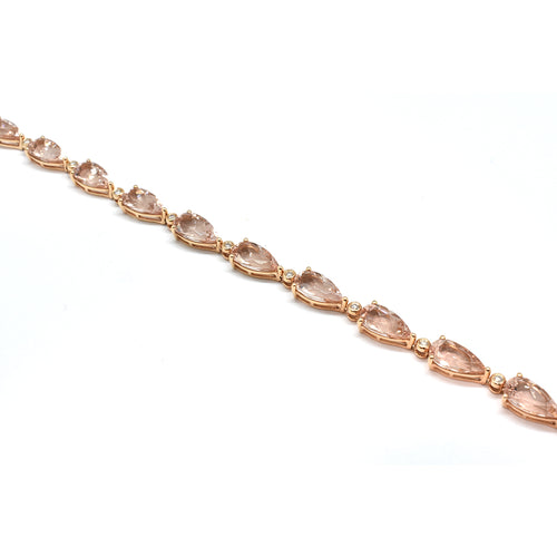 MORGANITE AND DIAMOND BRACELET 30392