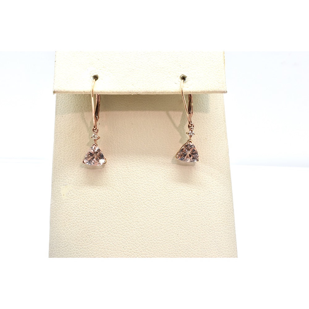 MORGANITE AND DIAMOND EARRINGS 30429