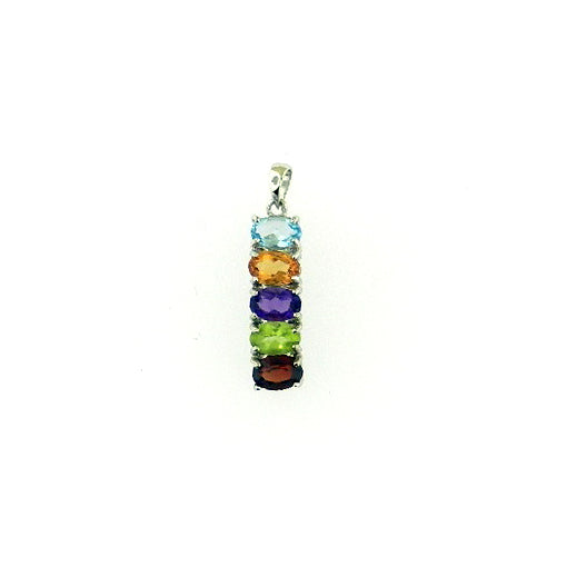 Multi-Color Topaz Pendant
