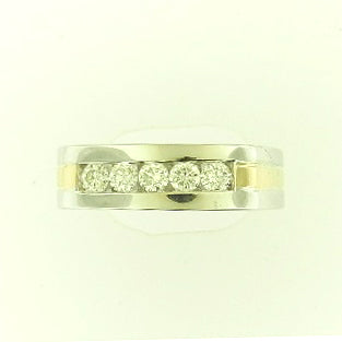 Single Row Diamond Band