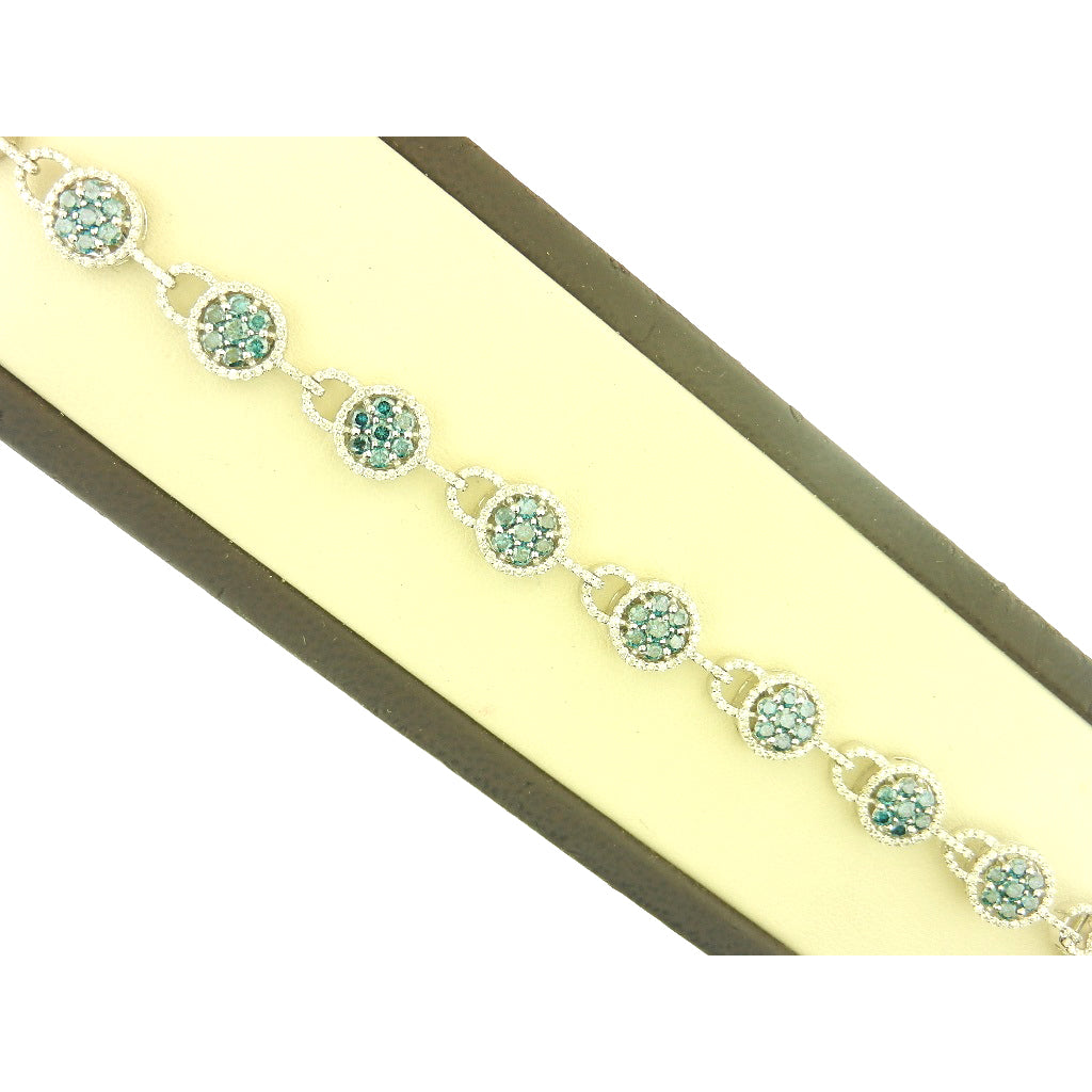 Flower Blue Diamond Bracelet