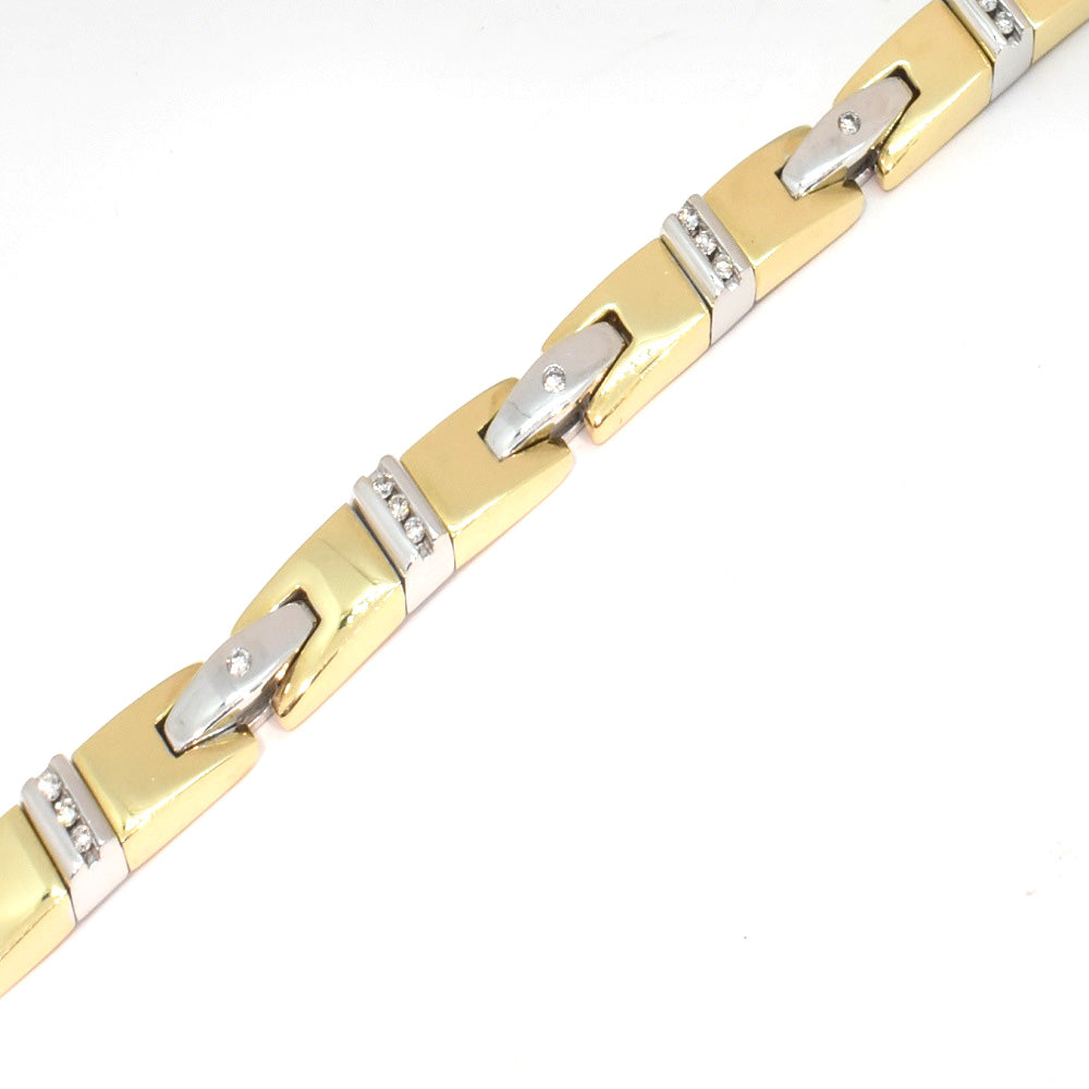MEN'S TWO-TONE DIAMOND BRACELET
