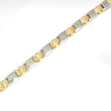 MEN'S TWO TONE DIAMOND BRACELET