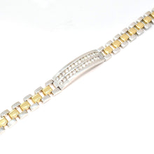 MEN'S TWO-TONE GOLD DIAMOND BRACELET