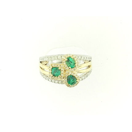 Multi Stone Emerald Ring