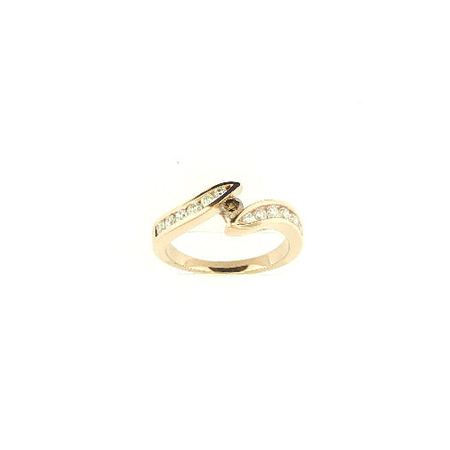 Tension Set Brown Diamond Ring