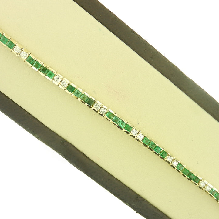 Princess Cut Emerald Bracelet