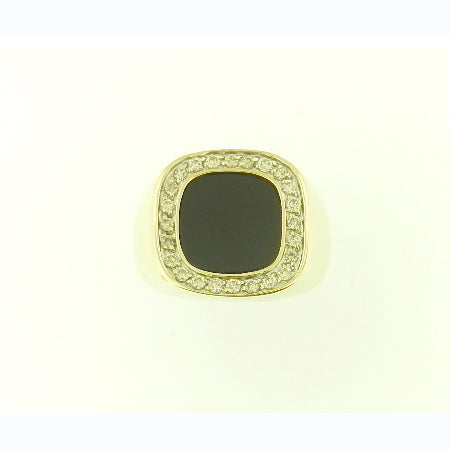 Onyx & Diamond Ring
