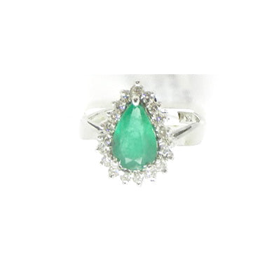Pear Emerald Ring
