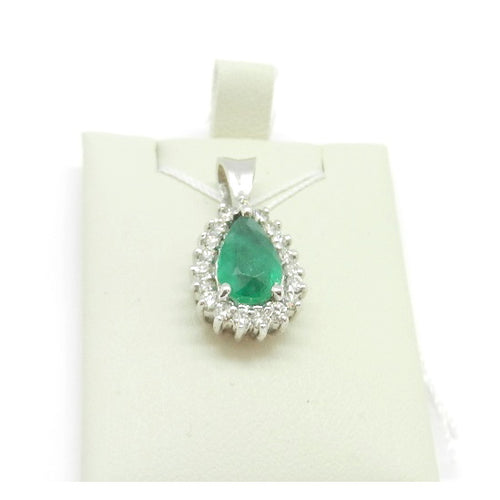 Tear Drop Emerald Pendant